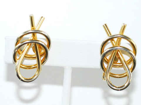 Sarah Coventry Nautical Knot Earrings