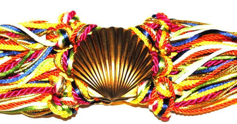 80s Multi Colored Seashell Rope Belt