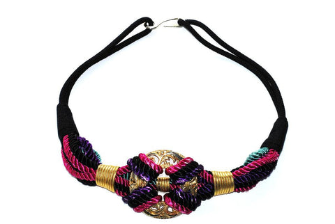 80s Multi-Colored and Gold Rope Belt