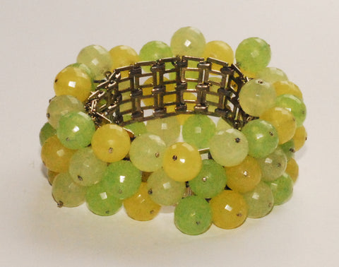 Green Beaded Bauble Bracelet