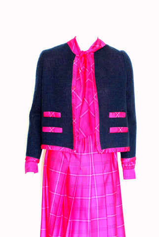 Nat Kaplan Plaid Belted Dress with Matching Jacket