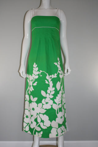 Malia Honolulu Green Floral Maxi Dress