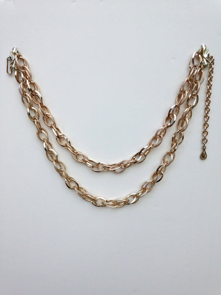 Double Link Aluminum Chain Choker Necklace