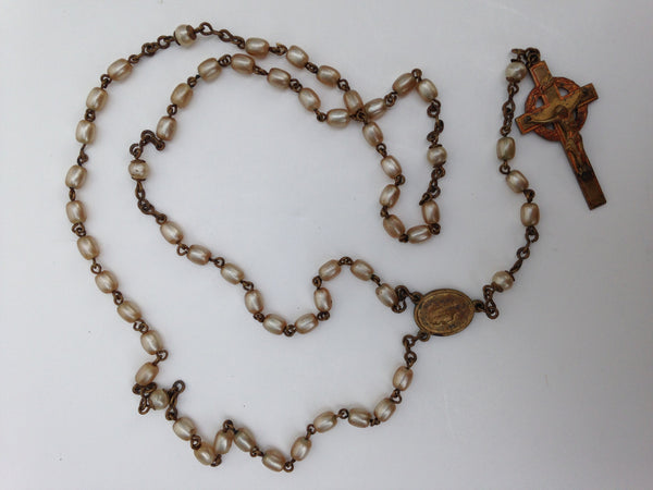 Pearl Czechoslovakian Rosary Necklace