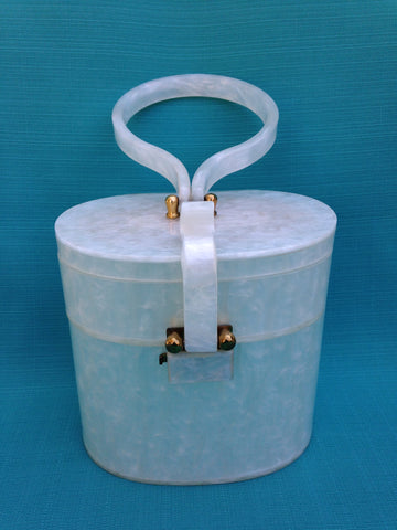 Wilardy 1275 Pearl Lucite Double Compartment Handbag