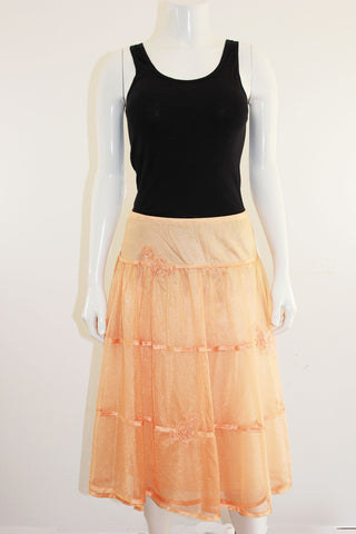 Peach Tiered Skirt Slip