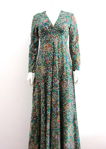 Victor Costa Emerald Green Maxi Dress
