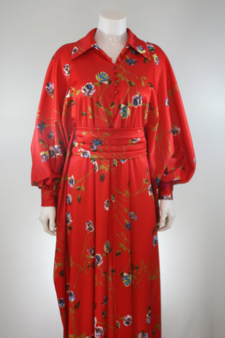 Red Rose Floral Robe