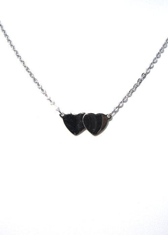 Sarah Double Heart Necklace