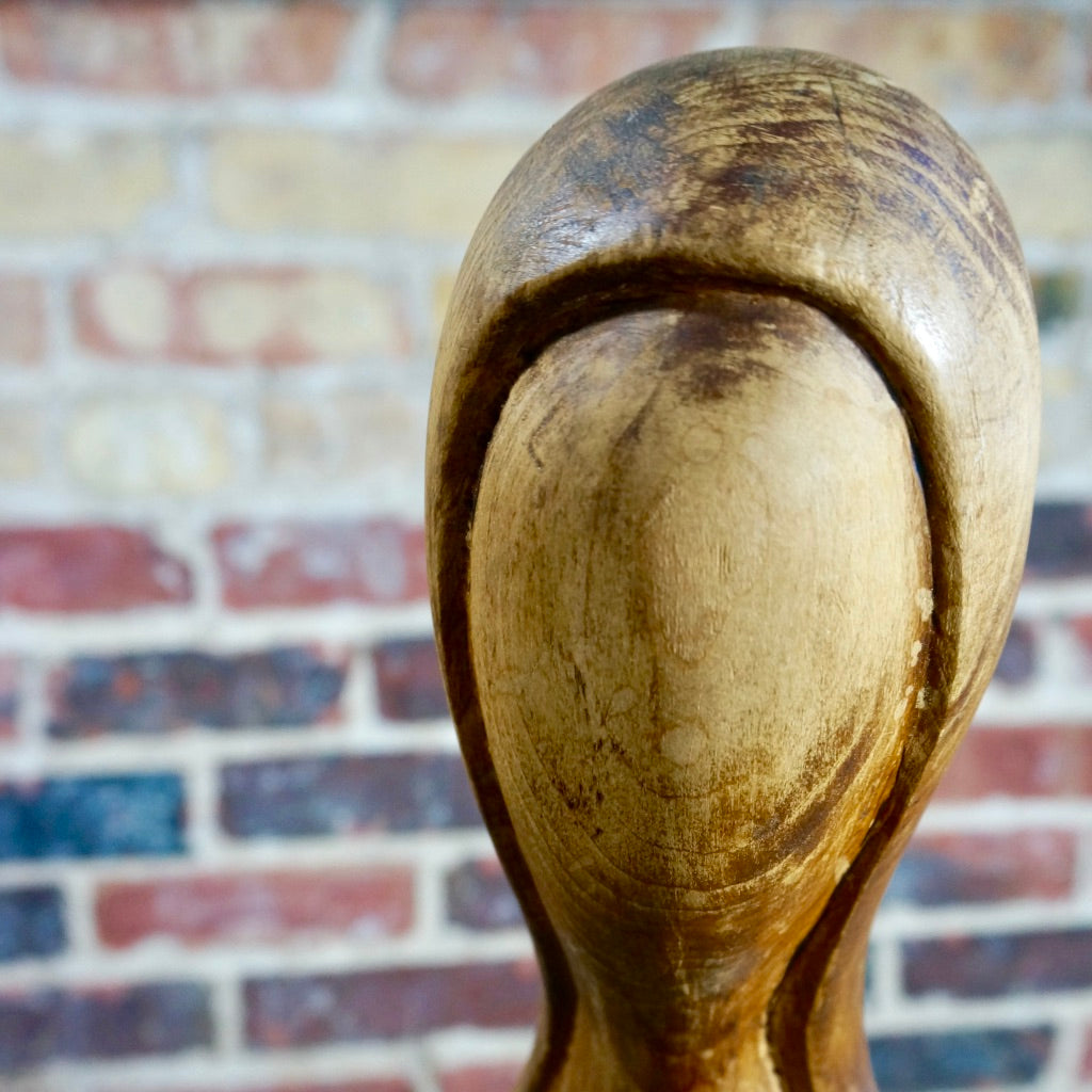 Tall Female Form Walnut Sculpture