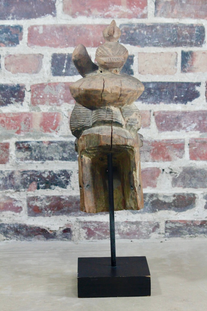 African Carving on Display Base