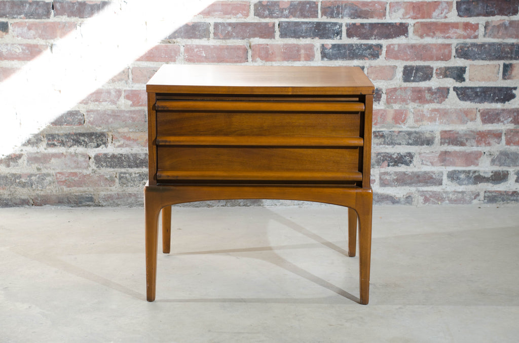 Lane Mid Century Walnut Nightstand