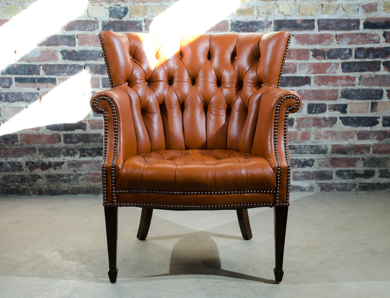 Astounding Baker Leather Wing Back Chair Short Links Chair Design For Home Short Linksinfo