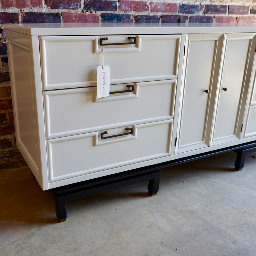 Mid-Century White Lacquer Dresser