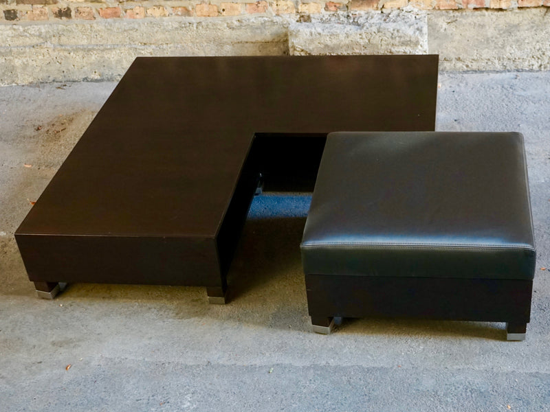 Coffee table with integrated ottoman chicago