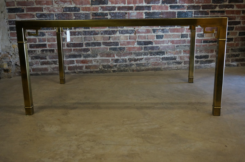 Mastercraft Dining Table Brass Glass Chicago