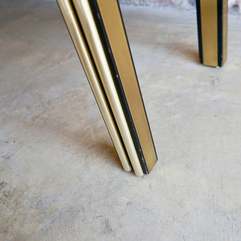 Brass and Black lacquer Console Chicago