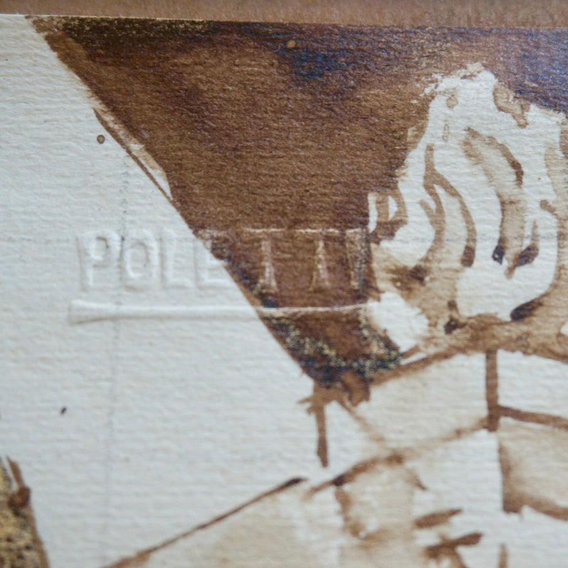 Poletti Embossed Signature on Painting