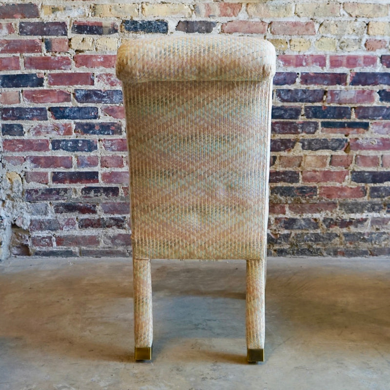 Mid-century pastel upholstered chairs Chicago