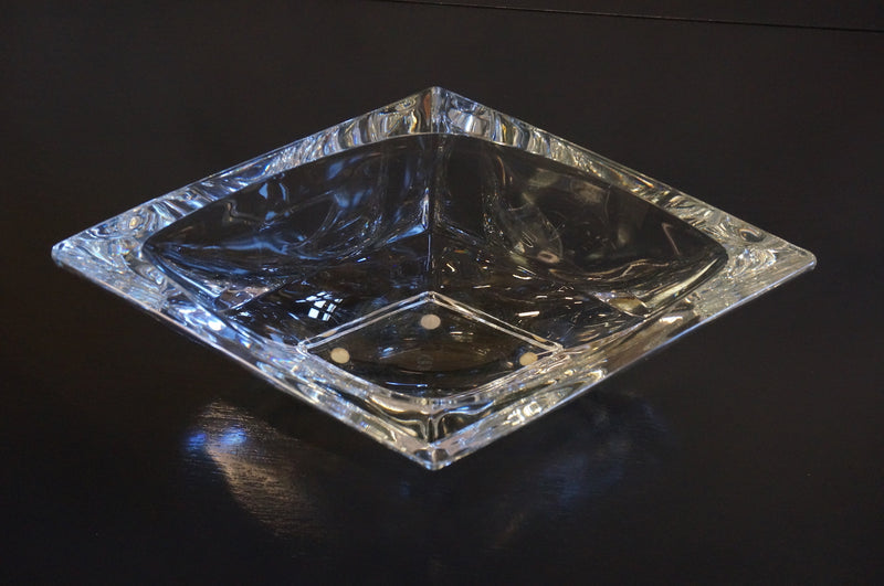 Sevres France Diamond Shaped Crystal Bowl