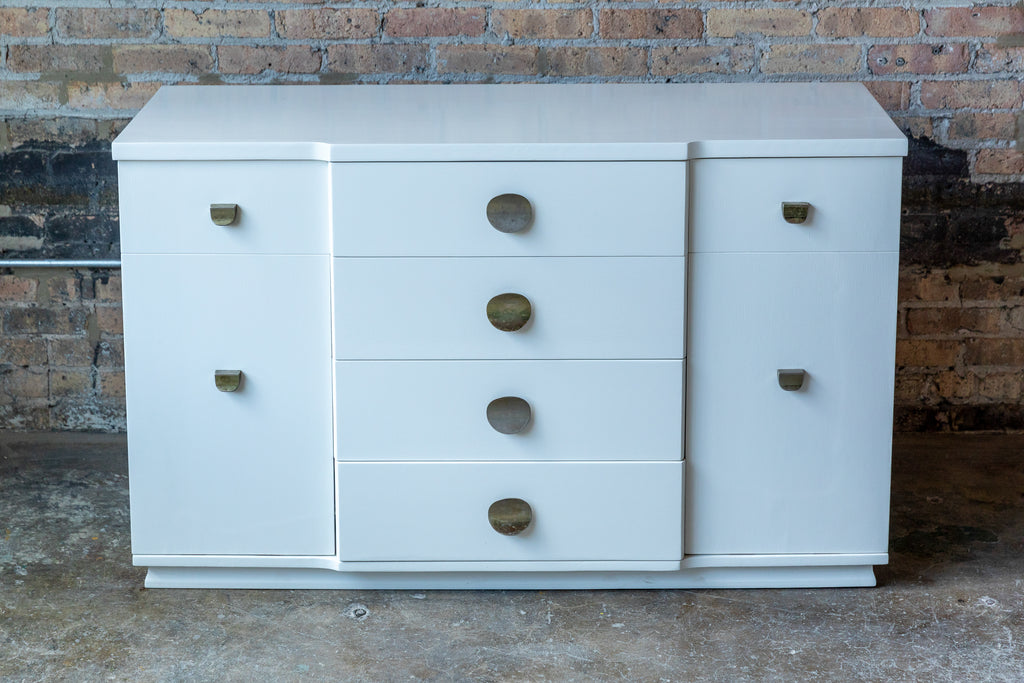 mid-century lacquered petite buffet, bathroom vanity cabinet