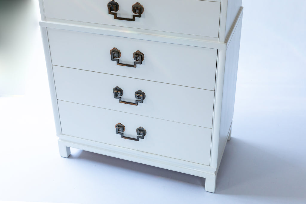Mid-Century Highboy with Chinoiserie Style