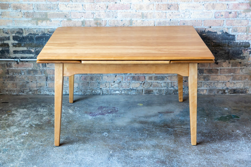 Mid-Century Dining Table with Built-in Leaves