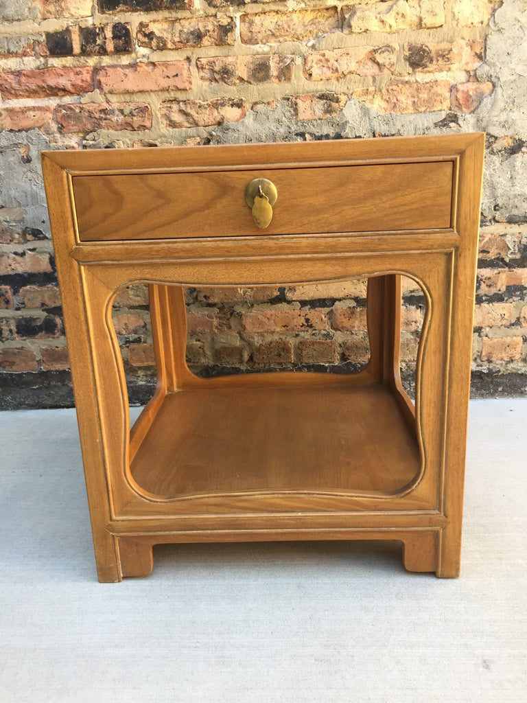 "Mid-Century Michael Taylor for Baker ""Far East"" Nightstand"