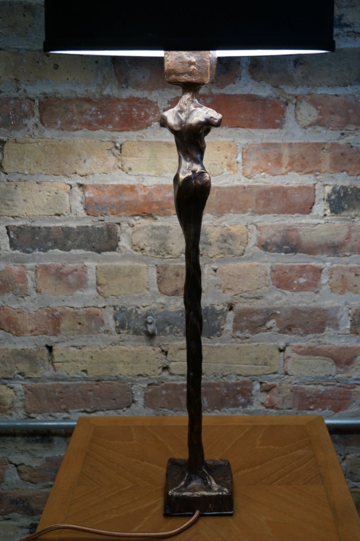 "Sculptural Bronze Lamp ""Rooted"" A by Chicago Artist, Eoin Cullen"