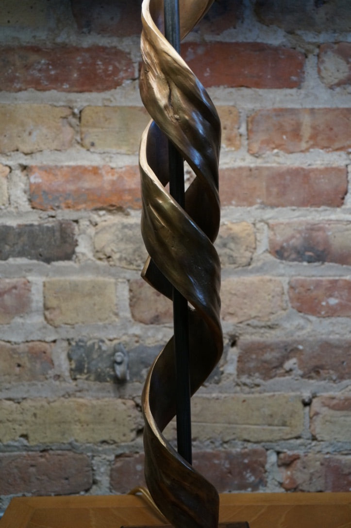 "Sculptural Bronze Lamp ""Nested Helix"" A"