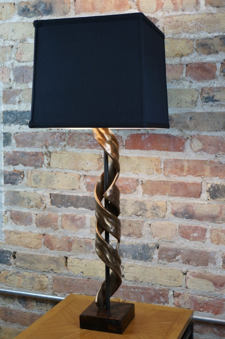 """Nested Helix"" Sculptural Lamp B by Eion Cullen"