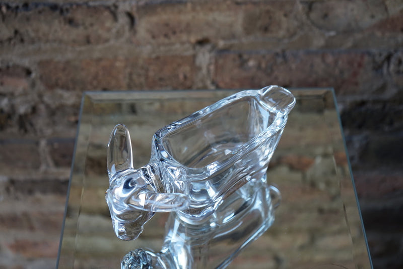 Crystal Donkey Ashtray
