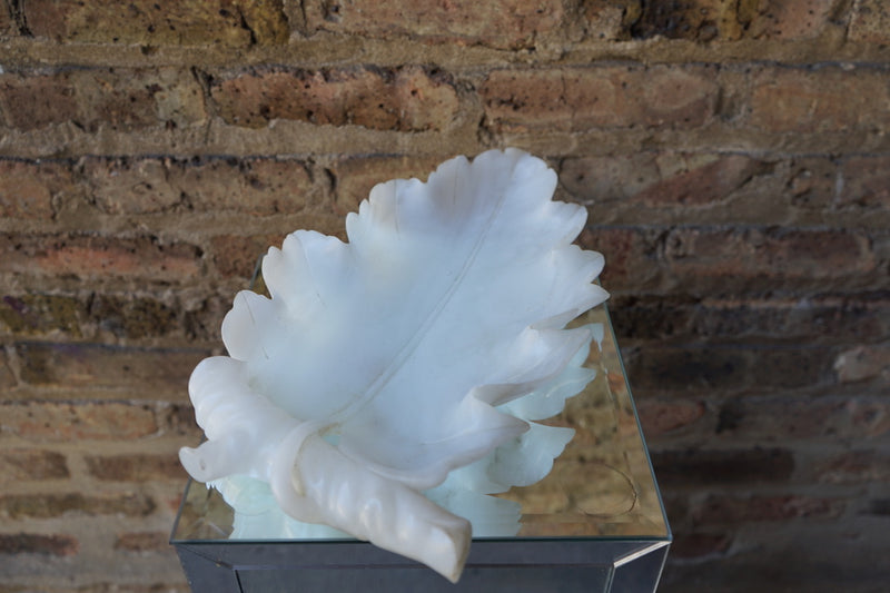 Alabaster Leaf Form Dish/Tray