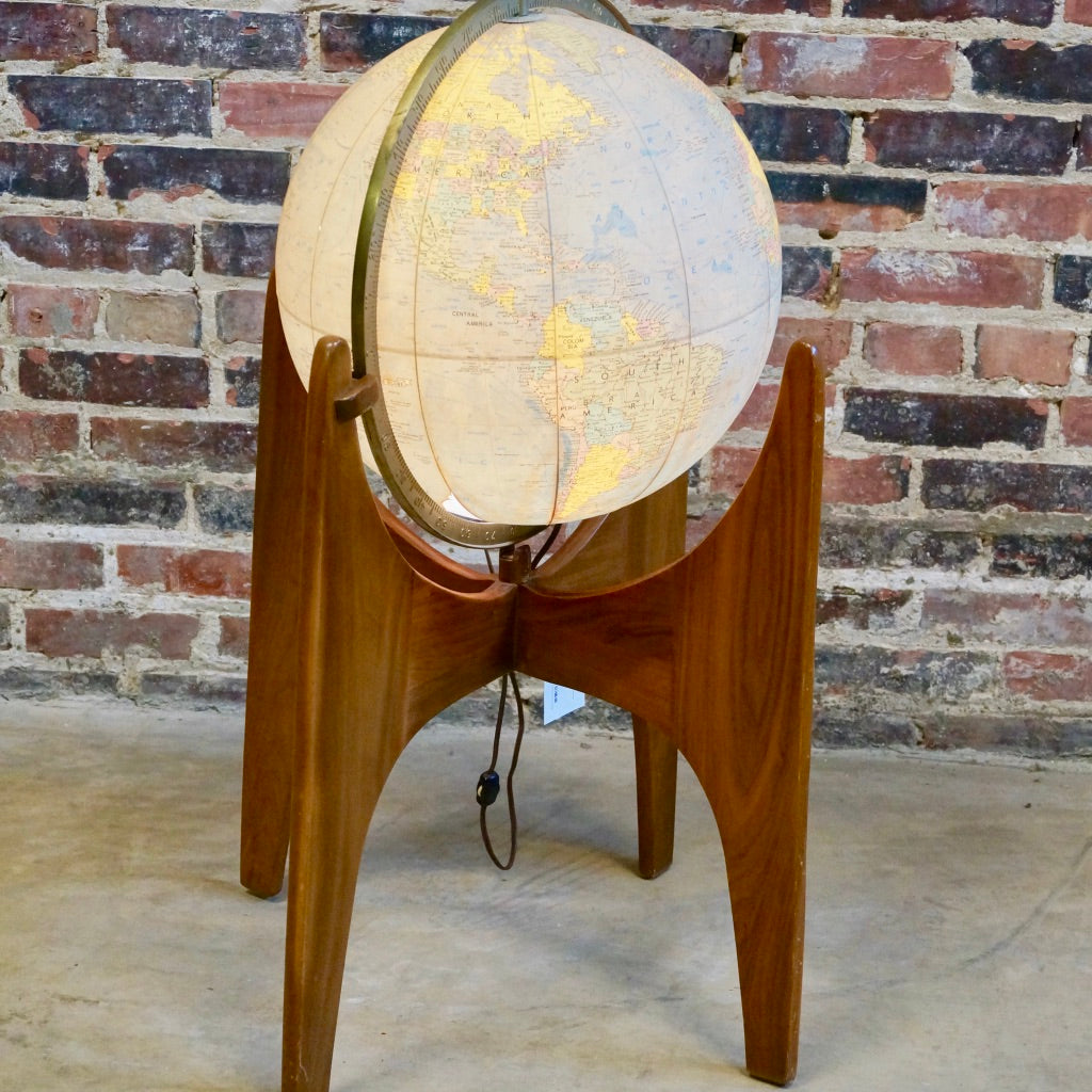 Adrian Pearsall Mid-century Globe on Stand