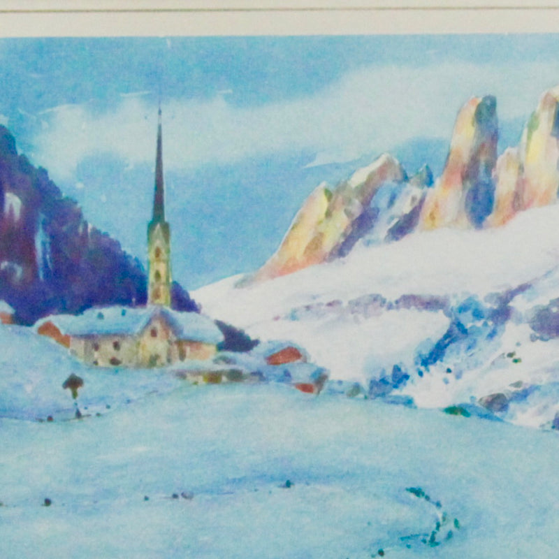 Watercolor Print Dolomites by Flumiani