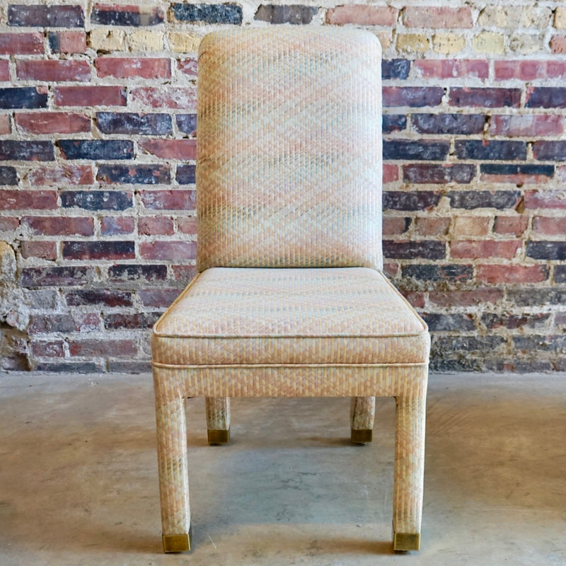 Parson style mid-century dining chair
