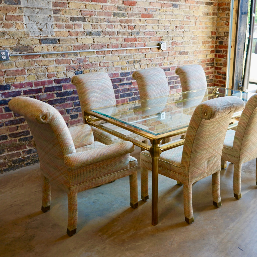 Mastercraft Upholstered Dining Chairs Mid-Century Chicago
