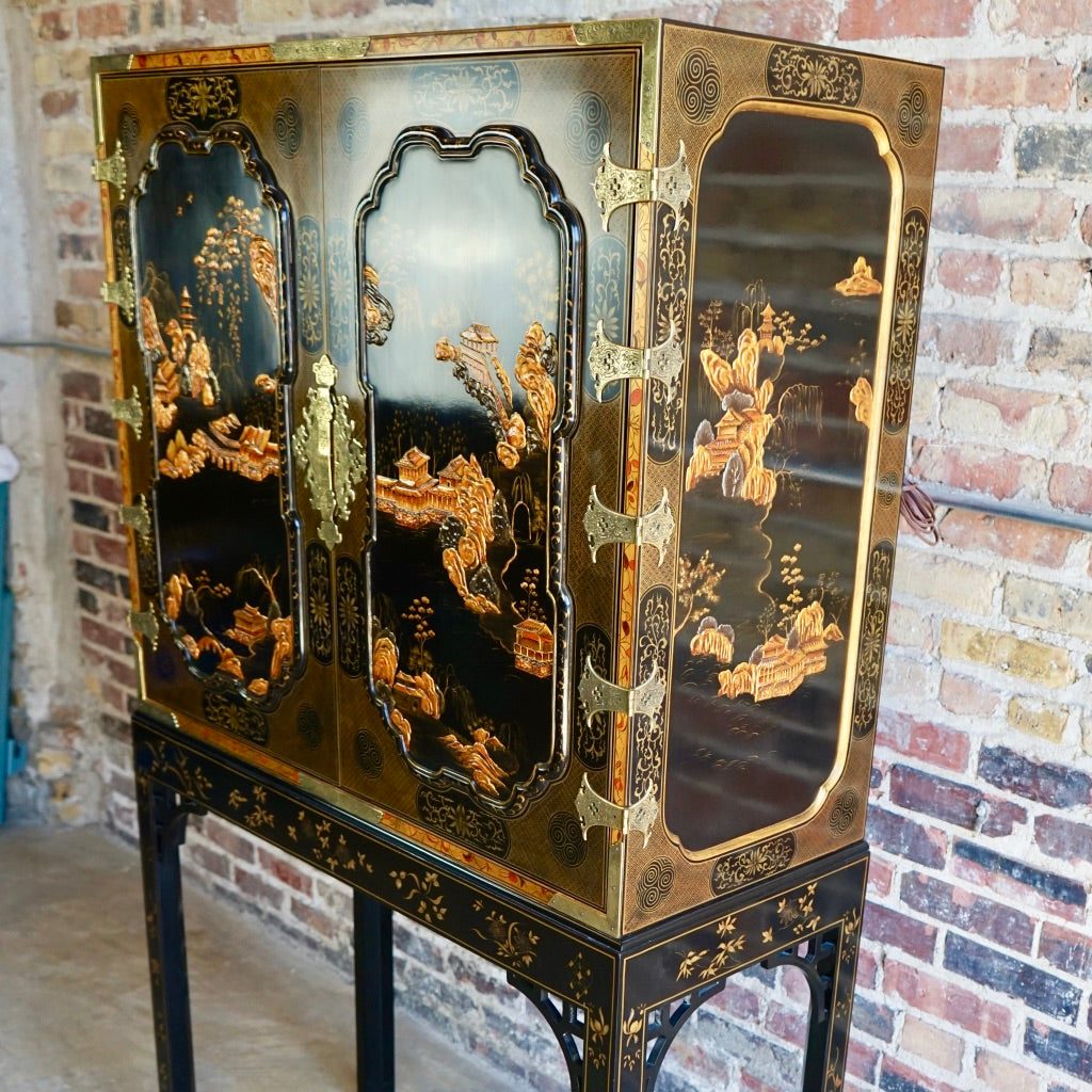 Baker Bar Cabinet Asian Motif Chicago Lux