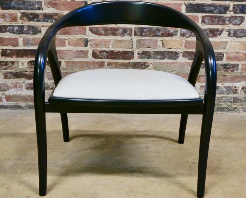 Black lacquer Italian side chairs