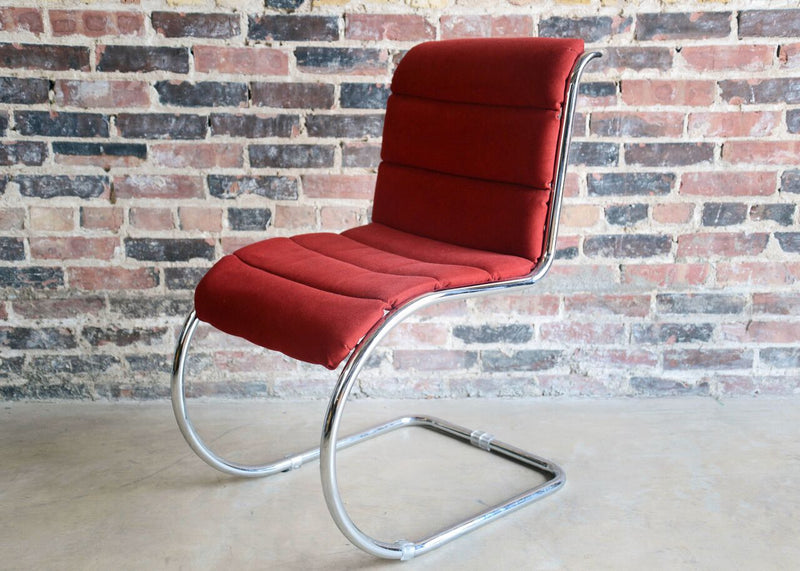 Set of 6 Mid Century Chrome Wire Frame Dining Chair