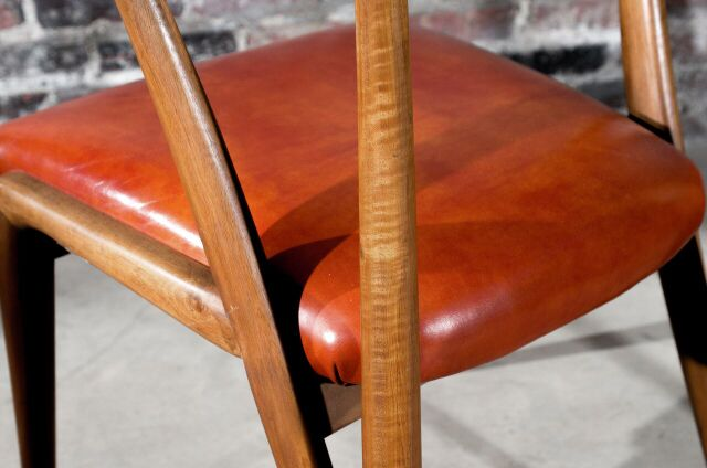 Bertha Schaefer Walnut Dining Chair