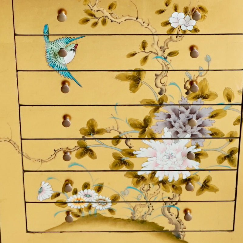 Asian Painted Jewelry Cabinet