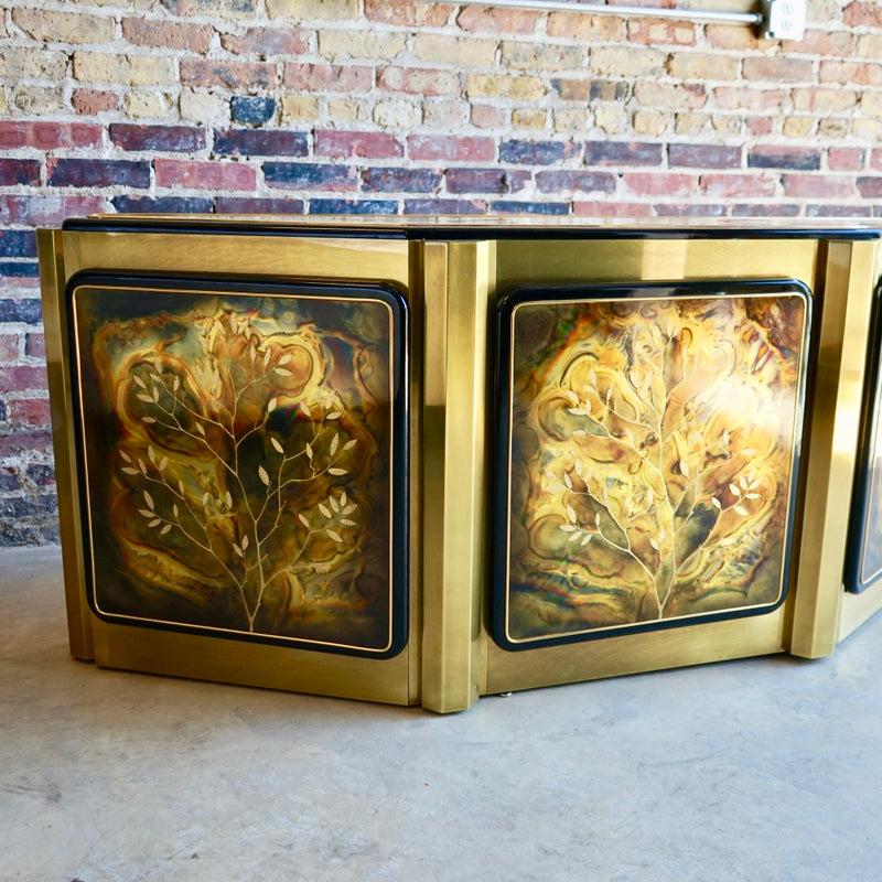 "Berhard Rohne for Mastercraft ""Tree of Life"" Brass Cabinet"