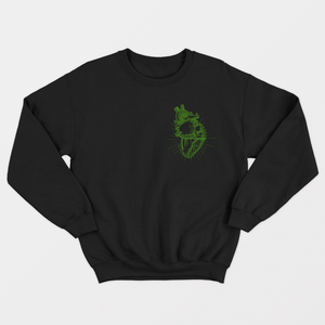 Vegan Anatomy Heart - Vegan Sweatshirt (Unisex)-Vegan Apparel, Vegan Clothing, Vegan Sweatshirt-Vegan Outfitters