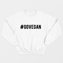 Load image into Gallery viewer, Go Vegan - Vegan Sweatshirt (Unisex)-Vegan Apparel, Vegan Clothing, Vegan Sweatshirt-Vegan Outfitters