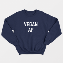 Load image into Gallery viewer, Vegan AF - Vegan Sweatshirt (Unisex)-Vegan Apparel, Vegan Clothing, Vegan Sweatshirt-Vegan Outfitters
