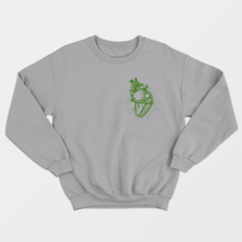 Load image into Gallery viewer, Vegan Anatomy Heart - Vegan Sweatshirt (Unisex)-Vegan Apparel, Vegan Clothing, Vegan Sweatshirt-Vegan Outfitters