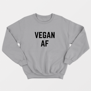 Vegan AF - Vegan Sweatshirt (Unisex)-Vegan Apparel, Vegan Clothing, Vegan Sweatshirt-Vegan Outfitters