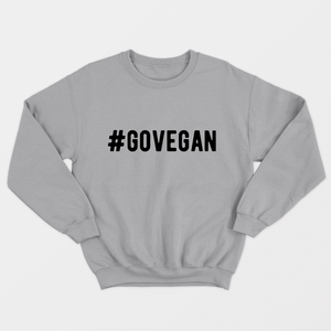 Go Vegan - Vegan Sweatshirt (Unisex)-Vegan Apparel, Vegan Clothing, Vegan Sweatshirt-Vegan Outfitters