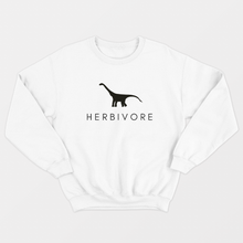 Load image into Gallery viewer, Herbivore Dinosaur - Vegan Sweatshirt (Unisex)-Vegan Apparel, Vegan Clothing, Vegan Sweatshirt-Vegan Outfitters